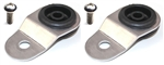Torque Solution Radiator Mount Combo w/ Inserts (Silver) : Mitsubishi Evolution 7/8/9