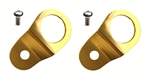 Torque Solution Radiator Mount Combo w/ Inserts (Gold) : Mitsubishi Evolution 7/8/9