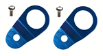 Torque Solution Radiator Mount Combo (Blue) : Mitsubishi Evolution 7/8/9