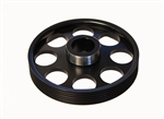Torque Solution Lightweight Crank Pulley (Black): Hyundai Genesis Coupe 3.8 2010+