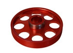Torque Solution Lightweight Crank Pulley (Red): Hyundai Genesis Coupe 3.8 2010+