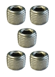 "Torque Solution Stainless Steel 1/8"" NPT Plug: Universal 5 Pack"