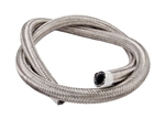 "Torque Solution Stainless Steel Braided Rubber Hose: -8AN 5ft (0.44"" ID)"