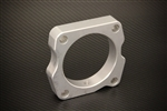 Torque Solution Throttle Body Spacer (Silver): Acura TSX V6 2010+