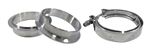 "Stainless Steel V-Band Clamp & Flange Kit: 2.25"" (57mm)"