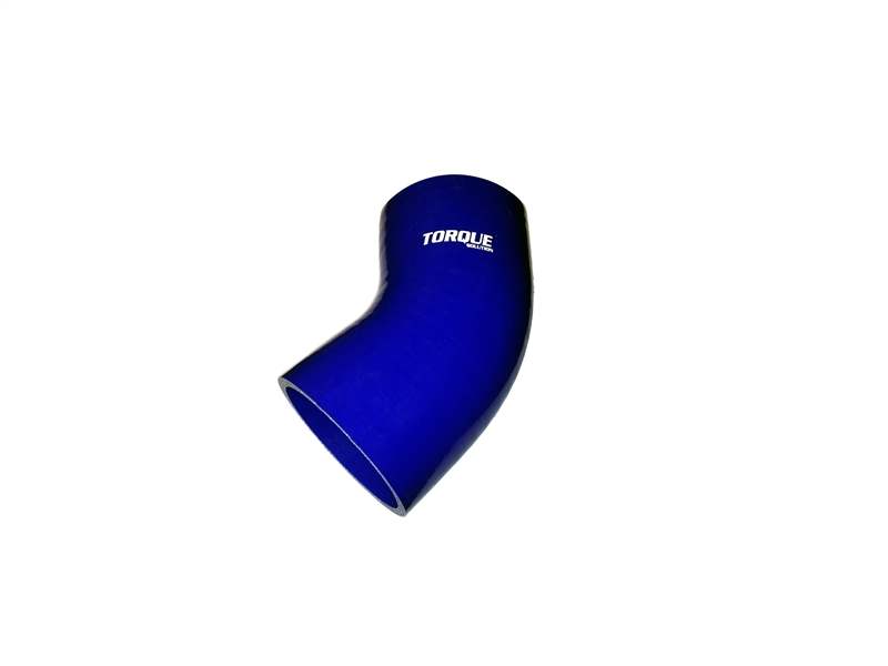 "Torque Solution 45 Degree Silicone Elbow: 2.5"" Blue Universal"