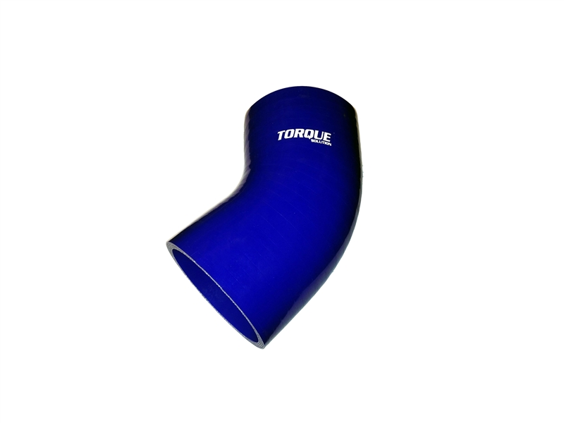 "Torque Solution 45 Degree Silicone Elbow: 3.5"" Blue Universal"