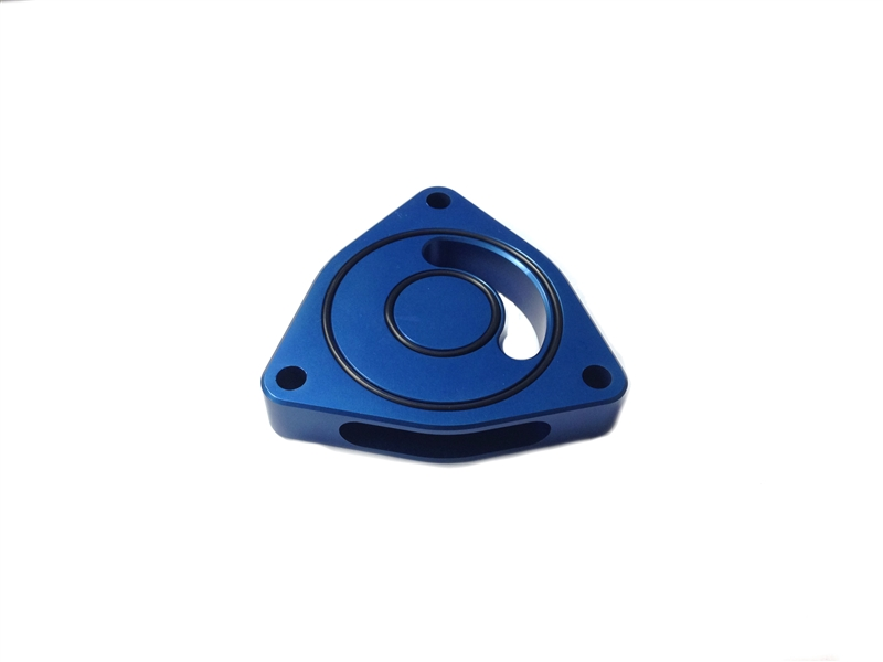 Torque Solution Blow Off BOV Sound Plate (Blue): Kia Optima 2.0T