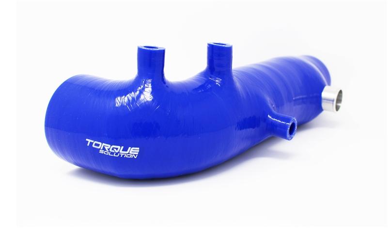 "Torque Solution 2.4"" Turbo Inlet Hose (Blue): Subaru WRX 02-07, STI 04-18, LGT 05-2009, FXT 04-13"
