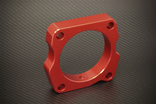 Torque Solution Throttle Body Spacer Red Acura TL - 2004 acura tsx throttle body
