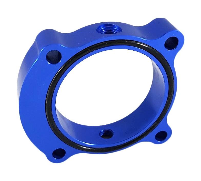 Torque Solution Throttle Body Spacer (Blue): Kia Optima 2.0T