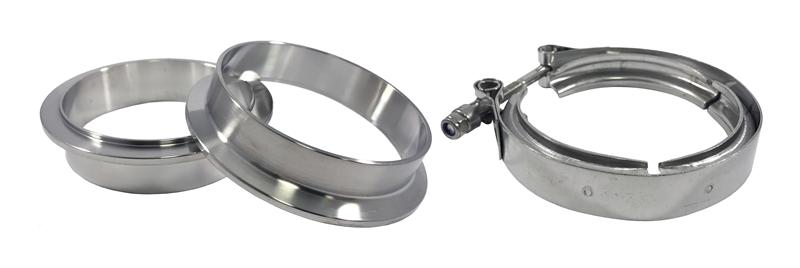 "Self Aligning 2.75/"" Male//Female V-Band Vband Clamp Stainless Steel Flange Kit"